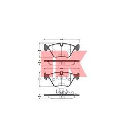 Комплект тормозных колодок, дисковый тормоз (Nk) 221519