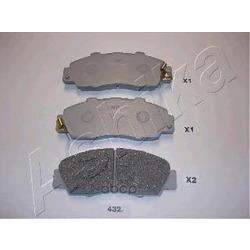 Комплект тормозных колодок, дисковый тормоз (Ashika) 5004432