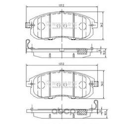 Комплект тормозных колодок, дисковый тормоз (Nipparts) N3601099