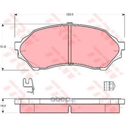 Колодки тормозные передние (TRW/Lucas) GDB3193