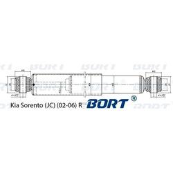 Амортизатор газомасляный задний (BORT) G11245212
