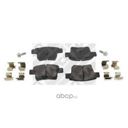 Комплект тормозных колодок, дисковый тормоз (Mapco) 6821
