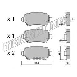 Комплект тормозных колодок, дисковый тормоз (Trusting) 5580