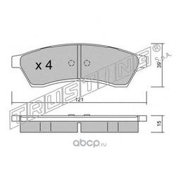 Комплект тормозных колодок, дисковый тормоз (Trusting) 5260