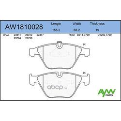 Колодки тормозные передние (AYWIparts) AW1810028