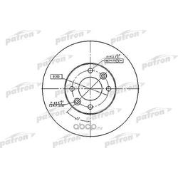 Диск тормозной передний (PATRON) PBD1032