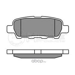 Комплект тормозных колодок, дисковый тормоз (Meyle) 0252387114W