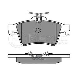 Комплект тормозных колодок, дисковый тормоз (Meyle) 0252413716