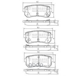 Комплект тормозных колодок (Nipparts) N3610313