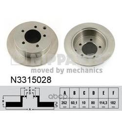 Тормозной диск (Nipparts) N3315028