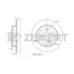 Диск тормозной задний (Zekkert) BS5275
