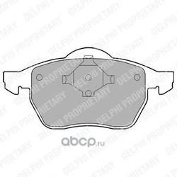 Комплект тормозных колодок, дисковый тормоз (Delphi) LP978