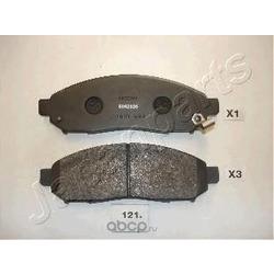 Комплект тормозных колодок, дисковый тормоз (Japanparts) PA121AF