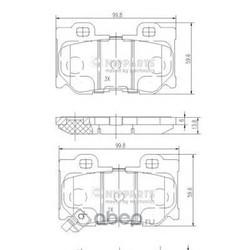 Комплект тормозных колодок, дисковый тормоз (Nipparts) N3611053