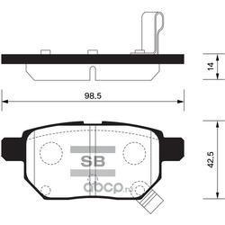 Колодки тормозные дисковые задние комплект (Sangsin brake) SP2094