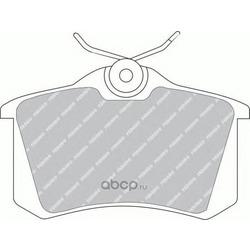 Комплект тормозных колодок, дисковый тормоз (Ferodo) FDB541