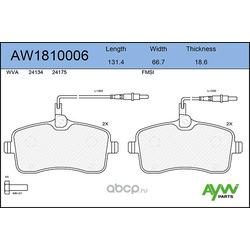 Колодки тормозные передние (AYWIparts) AW1810006