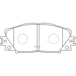 Колодки тормозные дисковые (FIT) FP1184