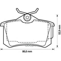 Комплект тормозных колодок, дисковый тормоз (Jurid) 573005J