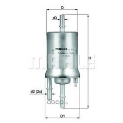Топливный фильтр (Mahle/Knecht) KL572