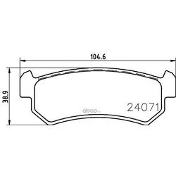 Комплект тормозных колодок, дисковый тормоз (Hella) 8DB355011451