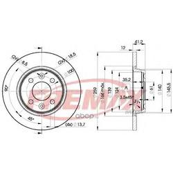Тормозной диск (FREMAX) BD4707