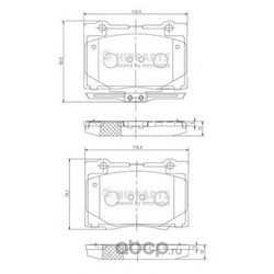 NIPPARTS Колодки тормозные дисковые (Nipparts) N3604070