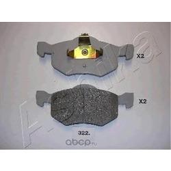 Комплект тормозных колодок, дисковый тормоз (Ashika) 5003322