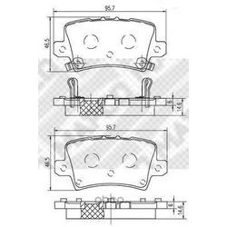 Комплект тормозных колодок, дисковый тормоз (Mapco) 6842