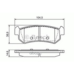 Колодки тормозные дисковые, комплект (Bosch) 0986494133