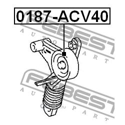 Ролик натяжителя приводного ремня (Febest) 0187ACV40
