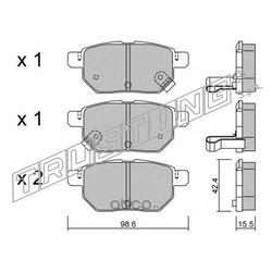 Комплект тормозных колодок, дисковый тормоз (Trusting) 7621