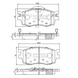 Комплект тормозных колодок, дисковый тормоз (Nipparts) J3600542