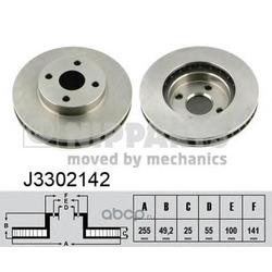 Тормозной диск (Nipparts) J3302142