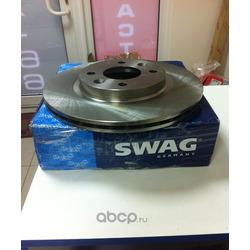 Диск тормозной передний вентилируемый (Swag) 60909073