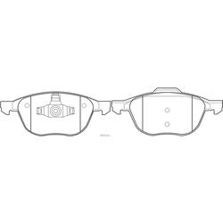 Колодки тормозные дисковые (FIT) FP1230