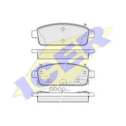 Колодки тормозные дисковые, комплект (Icer) 181943