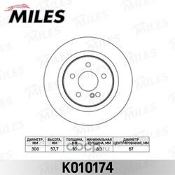 Диск тормозной MERCEDES W204 180-300 07- задний D=300мм. (Miles) K010174