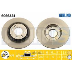 Тормозной диск (Girling) 6066324