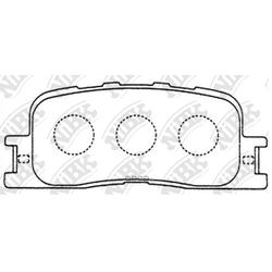 Колодки тормозные дисковые (NiBK) PN1458