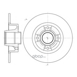 Тормозной диск (Remsa) 675000