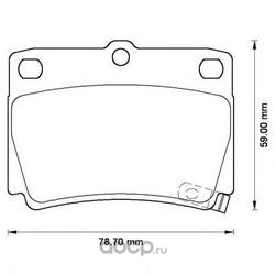 Комплект тормозных колодок, дисковый тормоз (Jurid) 572519J