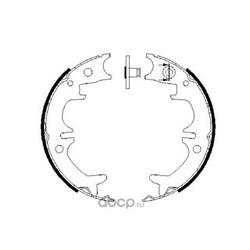 Комплект тормозных колодок, стояночная тормозная система (Bosch) 0986487680