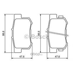 Комплект тормозных колодок, дисковый тормоз (Bosch) 0986494233