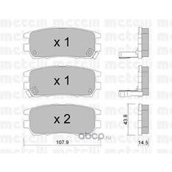 Колодки тормозные дисковые, комплект (Metelli) 2201510