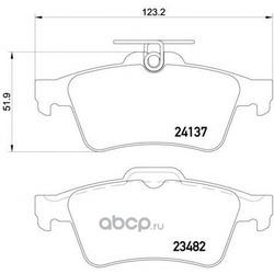 Комплект тормозных колодок, дисковый тормоз (Mintex) MDB2686