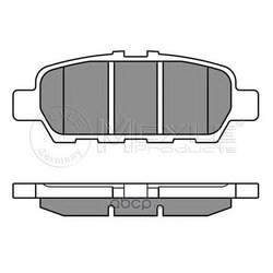 Комплект тормозных колодок, дисковый тормоз (Meyle) 0252487113W