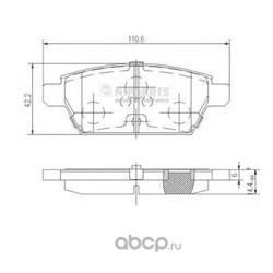 Комплект тормозных колодок, дисковый тормоз (Nipparts) J3613019