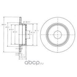 Тормозной диск (Delphi) BG2510