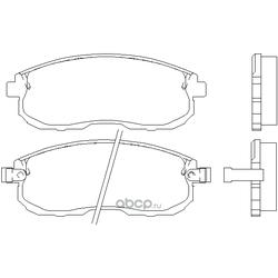 Колодки тормозные дисковые c датчиком изноза, комплект (Kashiyama) D1110M